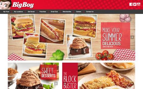 Screenshot of Home Page bigboy.com - Big Boy Restaurants - captured Sept. 24, 2014
