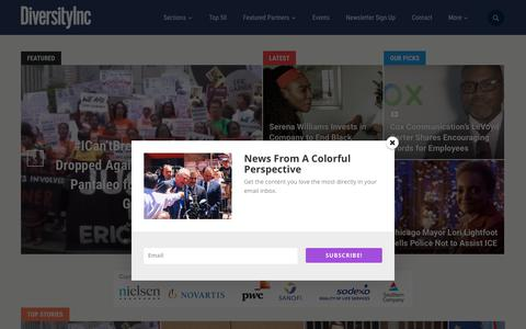Screenshot of Home Page diversityinc.com - DiversityInc - News From A Colorful Perspective - captured July 20, 2019