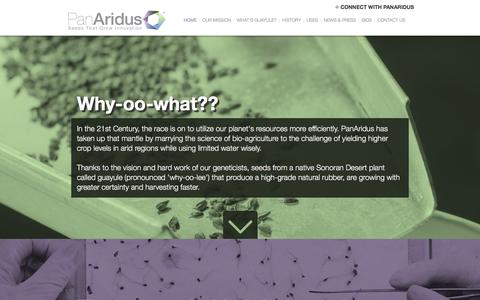 Screenshot of Home Page panaridus.com - PanAridus - Seeds That Grow Innovation - captured Dec. 6, 2015