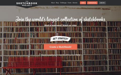 Screenshot of Home Page sketchbookproject.com - The Sketchbook Project - captured Nov. 3, 2015