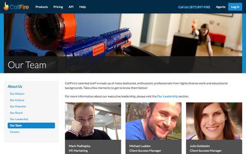 Screenshot of Team Page callfire.com - Our Team   The CallFire Superstars - captured June 16, 2015