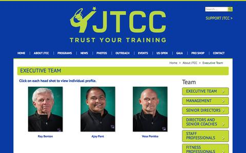 Screenshot of Team Page jtcc.org - Executive Team - - captured Nov. 27, 2016