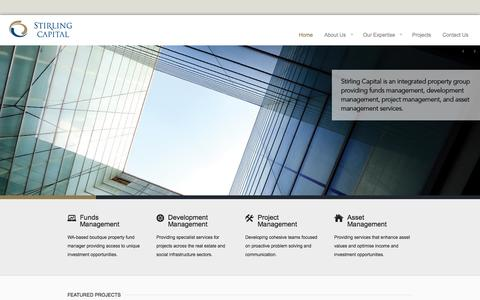 Screenshot of Home Page stirlingcapital.com.au - Stirling Capital Pty Ltd | Direct Property Investment and Development - captured Oct. 9, 2014