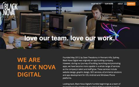 Screenshot of About Page blacknova.com.au - About us - The Best Web Developers and Graphic UI/UX Designers in Sydney - Black Nova Digital - captured Oct. 5, 2014