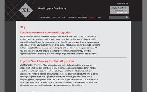 Screenshot of Blog xl-rpm.com - Blog | XL Real Property Management - captured Oct. 4, 2014