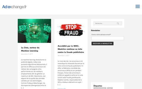 Screenshot of Home Page ad-exchange.fr - Ad-exchange & programmatic advertising    AD-EXCHANGE.FR * - captured Dec. 7, 2017