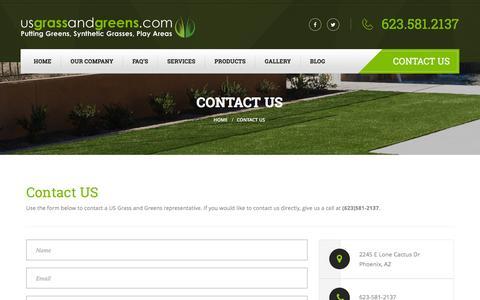 Screenshot of Contact Page usgrassandgreens.com - Contact US Grass And Greens - captured July 20, 2016