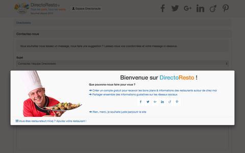 Screenshot of Contact Page directoresto.fr - référencement restaurant - faire connaitre son restaurant gratuitement - site internet et publicité restaurant - captured June 3, 2017