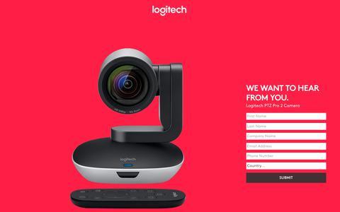 Screenshot of Landing Page logitech.com - Contact Us - captured July 23, 2017