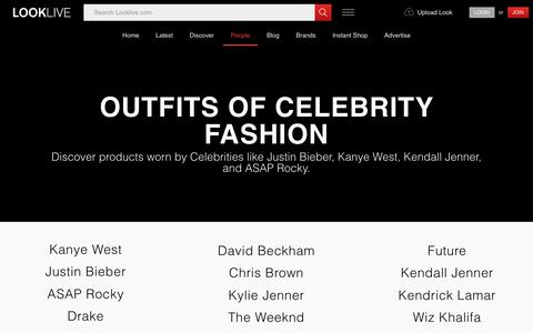 Screenshot of Team Page looklive.com - Clothing and outfits from celebrity fashion style inspiration | Looklive - captured April 7, 2018