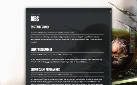 Screenshot of Jobs Page outact.net - Jobs | Outact Entertainment - captured Nov. 3, 2014