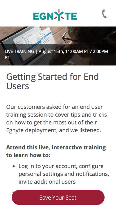 Egnyte End User Training