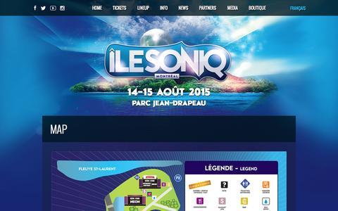 Screenshot of Maps & Directions Page ilesoniq.com - Map –  IleSoniq - captured Oct. 30, 2014