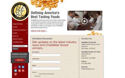 Screenshot of Signup Page chefsbest.com - Food Industry Newsletter Sign Up | ChefsBest : ChefsBest - captured July 17, 2018