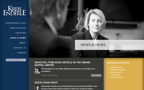 Screenshot of Press Page kreisenderle.com - Michigan Legal News & Views | Kreis Enderle - Attorneys at Law - captured Oct. 6, 2014