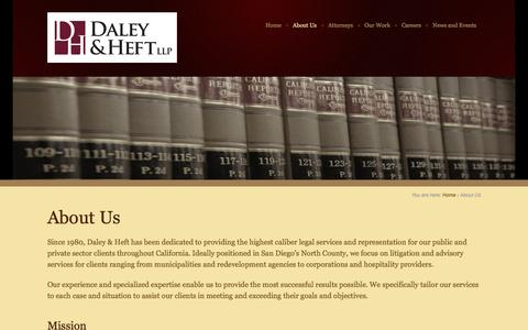Screenshot of About Page daleyheft.com - About Us - captured Jan. 22, 2016