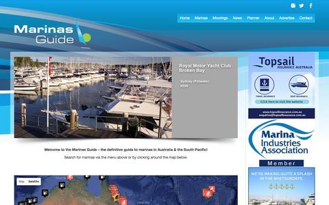 Screenshot of Home Page marinasguide.com.au - Home | Marinas Guide - captured Oct. 9, 2017