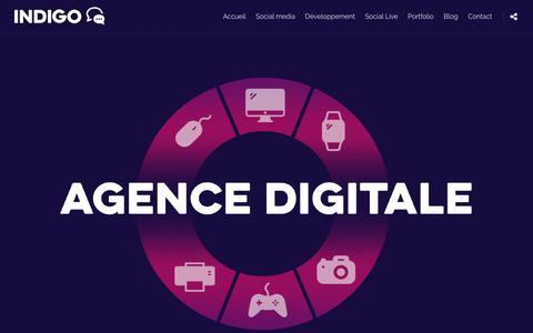 Screenshot of Home Page agence-indigo.com - Agence Indigo - Communication Digitale - Web - Réseaux sociaux - captured Dec. 9, 2018