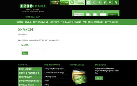 Screenshot of tropicana.net - Search - captured March 20, 2016