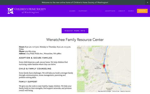 Screenshot of Locations Page childrenshomesociety.org - Chelan and Douglas — Children's Home Society of Washington - captured Nov. 5, 2016