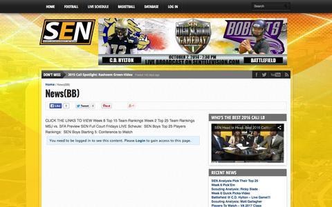Screenshot of Press Page sentelevision.com - News(BB) - SEN - captured Oct. 3, 2014