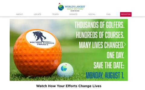 Screenshot of Home Page worldslargestgolfouting.com - The World's Largest Golf Outing - captured April 1, 2016