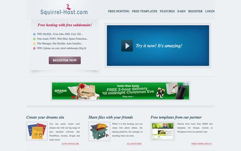 Screenshot of Home Page squirrel-host.com - Squirrel-Host.com | Free host - captured Dec. 23, 2016