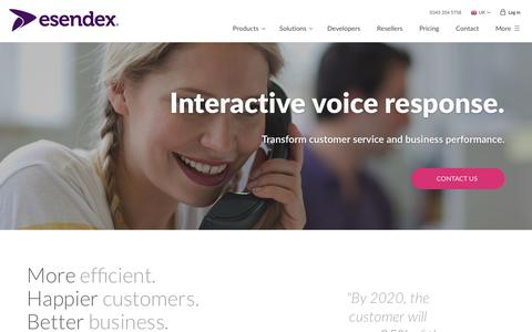 IVR | Interactive Voice Response | Esendex