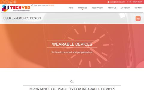 Wearables UX Design | Wearable Usability Testing India – TECHVED Consulting