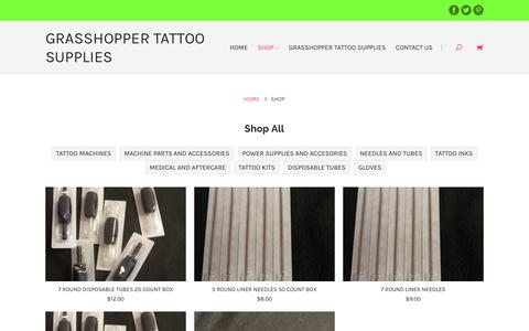 Screenshot of Products Page discounttattoosupplies.com - Products | Grasshopper Tattoo Supplies - captured Oct. 12, 2017