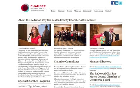 Screenshot of About Page redwoodcitychamber.com - Redwood City San Mateo County Chamber of Commerce | Redwood City Chamber of Commerce - captured Sept. 16, 2014