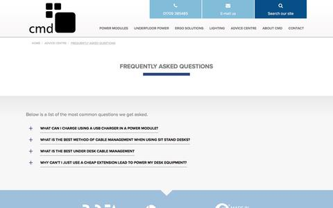 Screenshot of FAQ Page cmd-ltd.com - Frequently Asked Questions - CMD Ltd - captured July 9, 2016