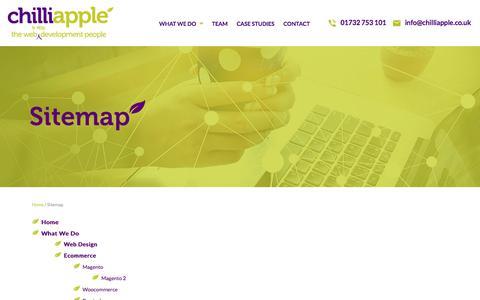 Screenshot of Site Map Page chilliapple.co.uk - Sitemap: Award Winning Web & App Design Agency Kent - captured July 29, 2017