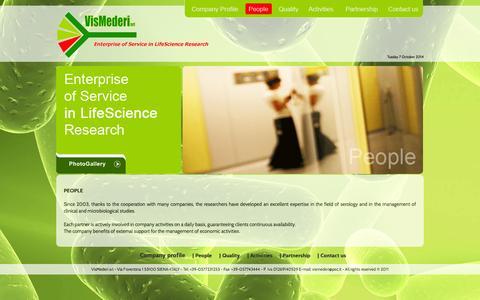 Screenshot of Team Page vismederi.com - VisMederi :: Enterprise of Service in LifeScience Research - captured Oct. 7, 2014
