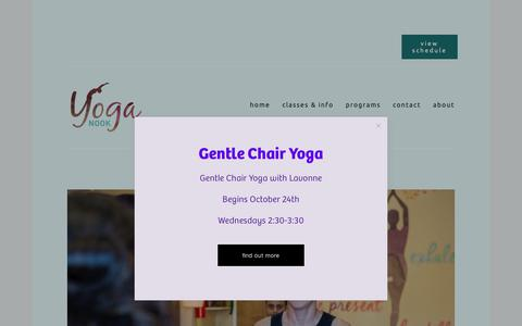 Screenshot of Blog chesapeakeyoganook.com - Blog — Yoga Nook - captured Oct. 23, 2018