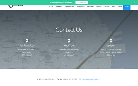 Screenshot of Contact Page rolepoint.com - Contact RolePoint - captured July 21, 2019