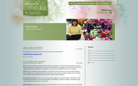 Screenshot of Blog albarellamedia.com - Albarella Media :: Green-Up Blog - captured Sept. 30, 2014