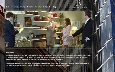 Screenshot of About Page jrpaddon.com - About Us - jrpaddon - captured Oct. 4, 2014