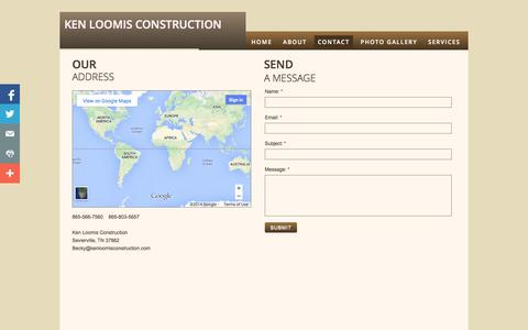 Screenshot of Privacy Page Contact Page kenloomisconstruction.com - Locations - captured Oct. 25, 2014