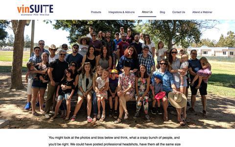 Screenshot of Team Page vinsuite.com - Our Team - captured Sept. 21, 2018