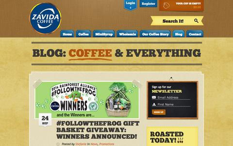 Screenshot of Blog zavida.com - The Coffee and Everything Blog   Zavida Coffee - captured Oct. 7, 2014