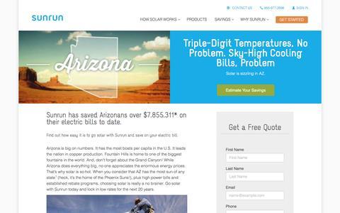 Screenshot of sunrun.com - Arizona Solar Panels & Home Solar Companies   Sunrun - captured March 31, 2016