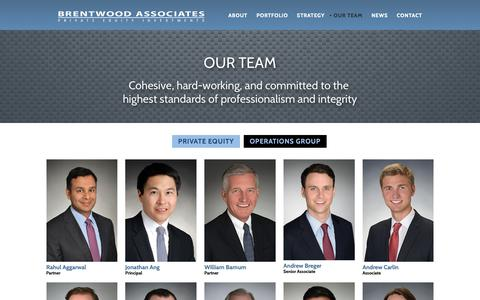 Screenshot of Team Page brentwood.com - Our Team - Brentwood Associates - captured Oct. 6, 2018