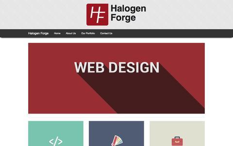 Screenshot of Home Page halogenforge.com - Halogen Forge - captured Sept. 30, 2014