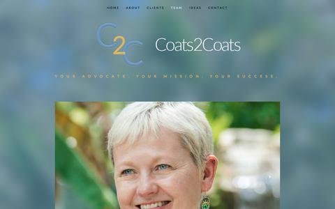 Screenshot of Team Page coats2coats.com - Team - Coats2Coats - captured July 19, 2018