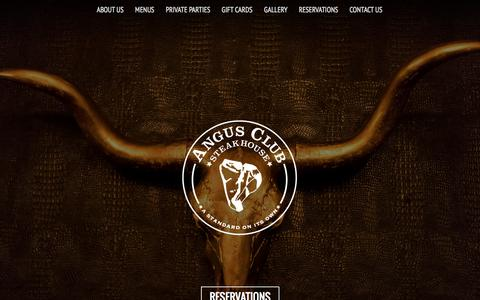 Screenshot of Home Page angusclubsteakhouse.com - Angus Club Steakhouse Home - captured Jan. 30, 2015