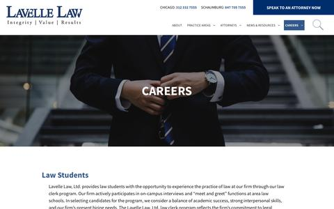 Screenshot of Jobs Page lavellelaw.com - Careers   LaVelle Law   Chicago Law Firm - captured Oct. 27, 2018