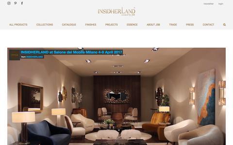 Screenshot of Press Page insidherland.com - NEWS - INSIDHERLAND exclusive luxury furniture created by Joana Santos Barbosa - captured July 26, 2018