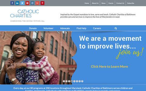 Screenshot of Home Page catholiccharities-md.org - Home - Catholic Charities of Baltimore - captured Feb. 17, 2018