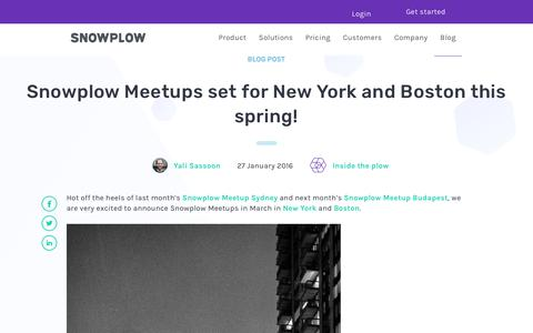 Screenshot of Team Page snowplowanalytics.com - Snowplow Meetups set for New York and Boston this spring! - captured Feb. 10, 2020